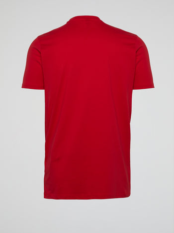 Lori Red Crewneck T-Shirt