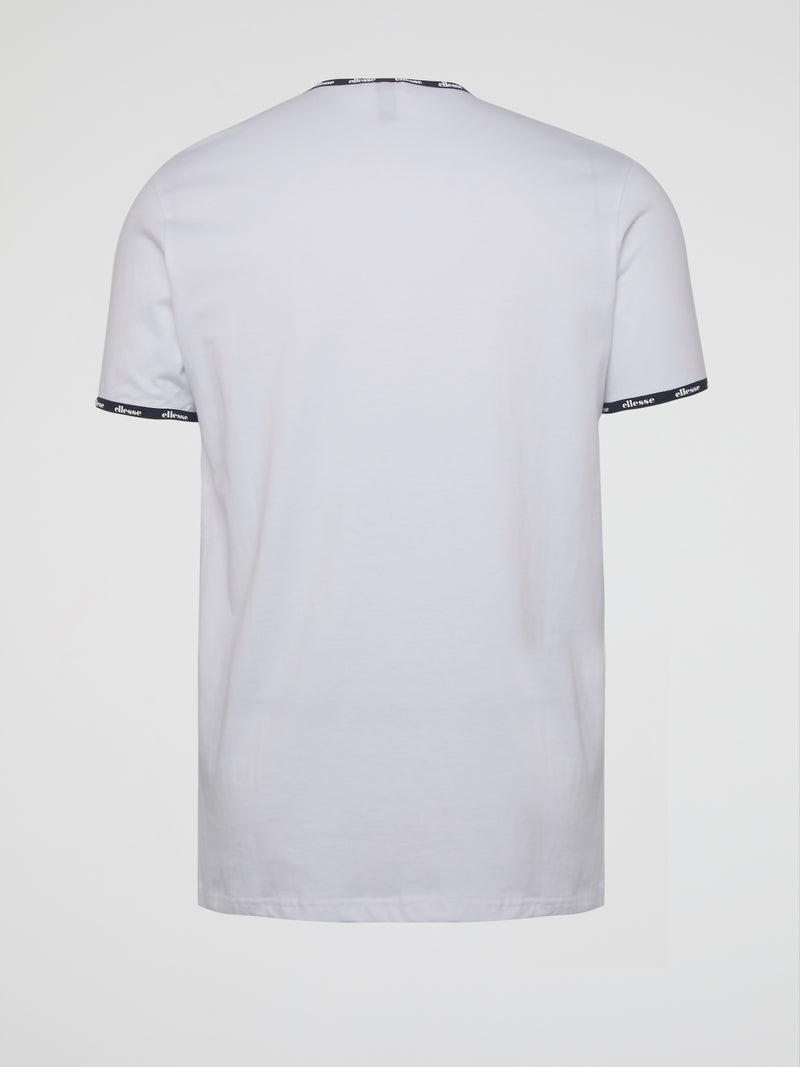 Eden White Logo Trim T-Shirt