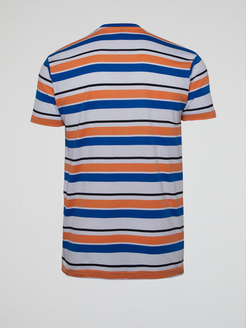 Panorama Striped Logo T-Shirt