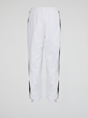 Tulipo White Side Stripe Track Pants