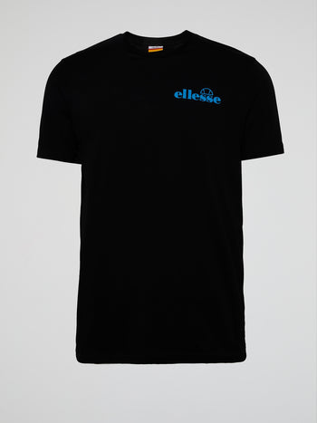 Fondato Black Rear Print T-Shirt