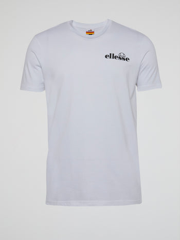 Fondato White Rear Print T-Shirt