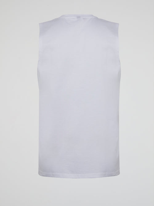 Andare White Cut Off Shirt