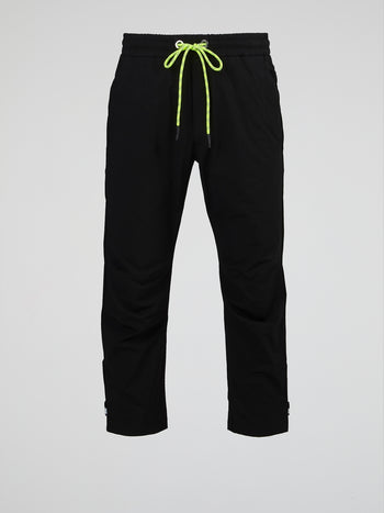 Black Bootcut Drawstring Pants