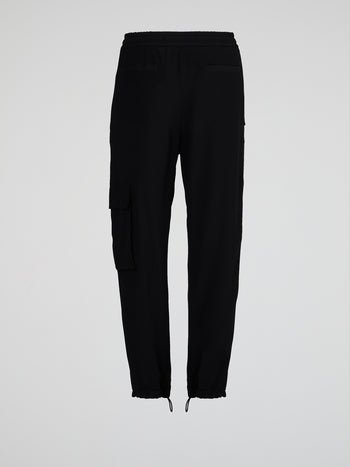Black Drawstring Hem Pants