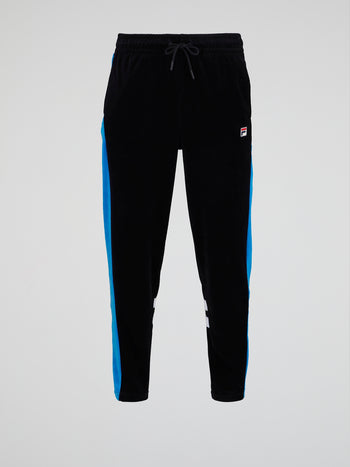 Black Velour Track Pants