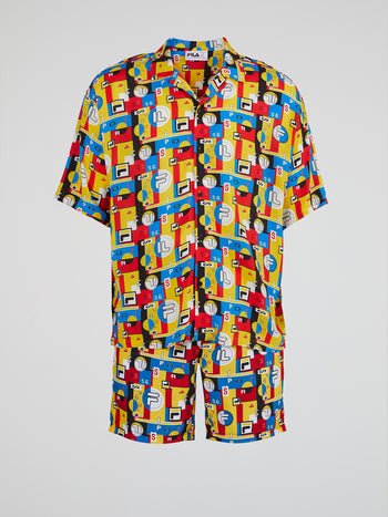 Yellow Hawaiian Festival AOP Shirt