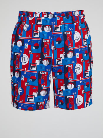 Blue Archive Aop Swim Shorts