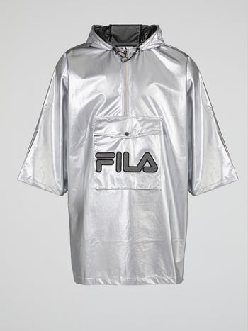Metallic Mesh Logo Jacket