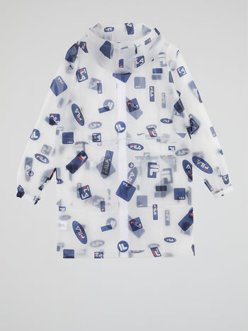 Translucent Logo All-Over Raincoat