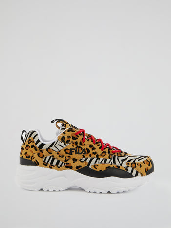 Ray Tracer Animal Print Sneakers