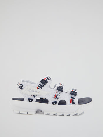 Disruptor White Logo Strap Sandals