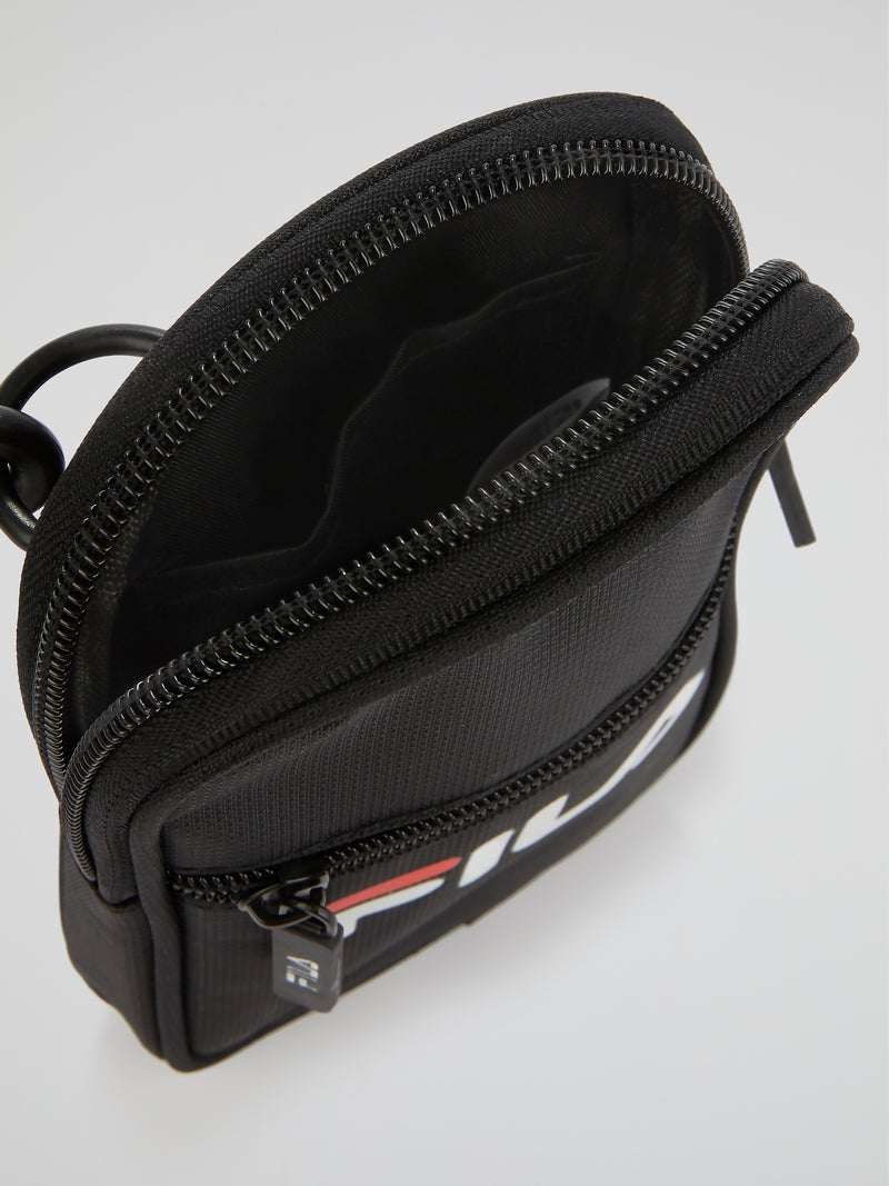 Black Mesh Neck Pouch