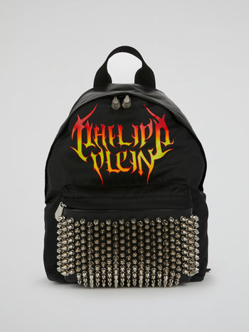 Black Spike Studded Backpack