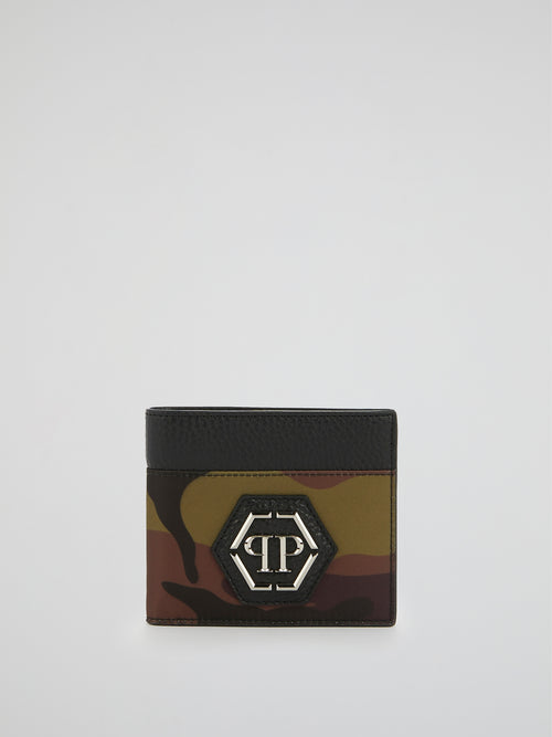Camo Monogram Patched Pocket Wallet