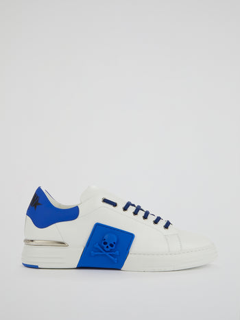 Phantom Kick$ Blue Low-Top Sneakers