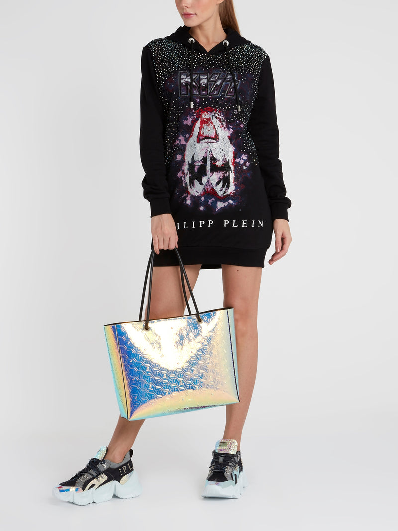 Rock Band Studded Hoodie Dress