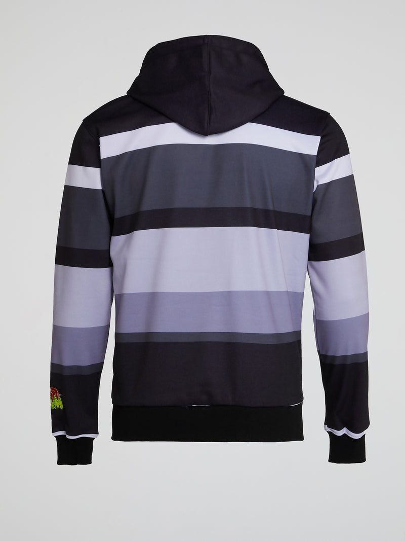Bugs Bunny and Daffy Duck Striped Hoodie
