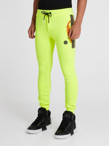 Rock PP Neon Yellow Jogging Trousers