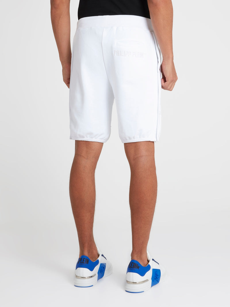 White Tear Away Track Shorts