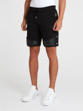 Black Tear Away Track Shorts