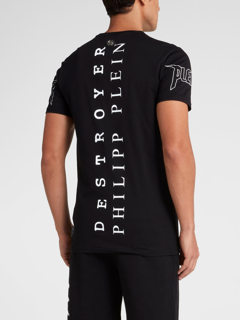 Black Studded Graphic T-Shirt