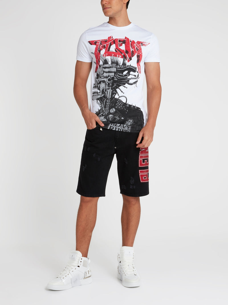Rock PP White Graphic T-Shirt