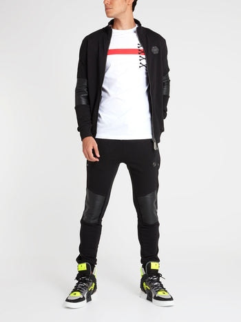 Black Zip-Up Track Jacket
