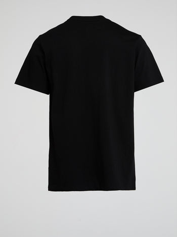 Black Pocket Detail T-Shirt