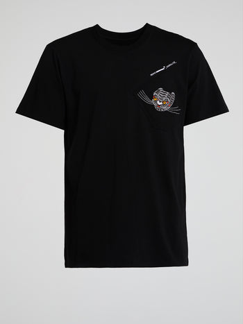 Haetae Black Crewneck T-Shirt