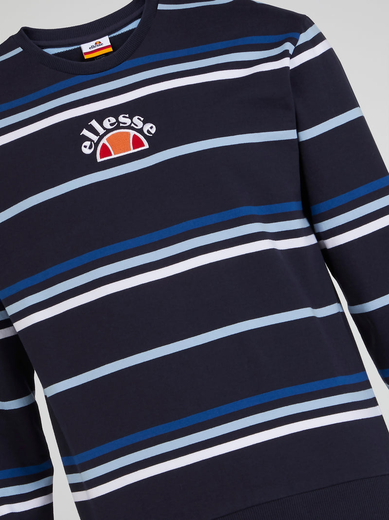 Pirozzo Navy Striped Sweatshirt