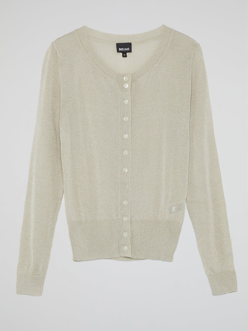 Ribbed Button Up Cardigan