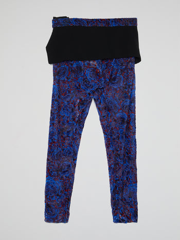 Floral Print Overlay Trouser
