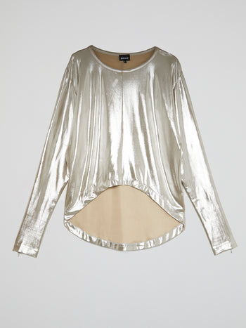 Gold High-Low Swing Top