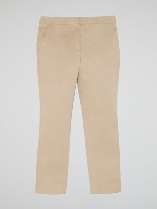 Beige Cropped Pants