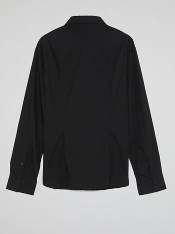 Black Long Sleeve Oversized Shirt