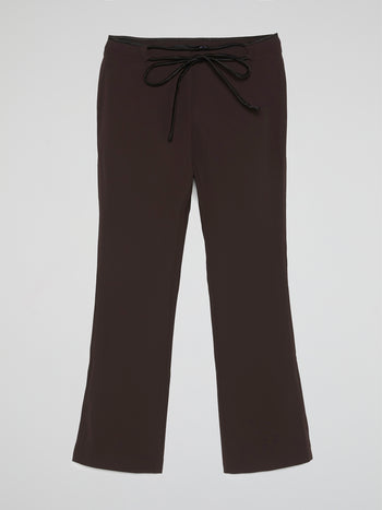 Black Drawstring Bootcut Pants
