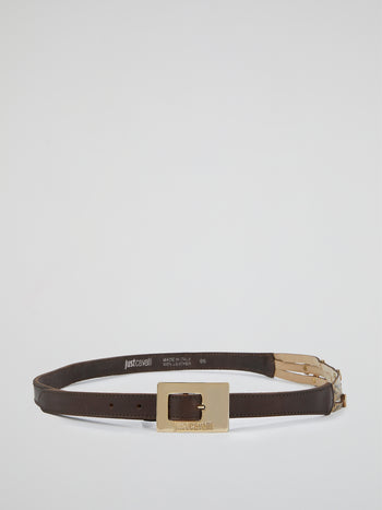Brown Reptilian Belt