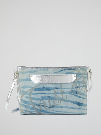 Metallic Panel Denim Handbag