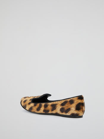 Leopard Print Monogram Loafers