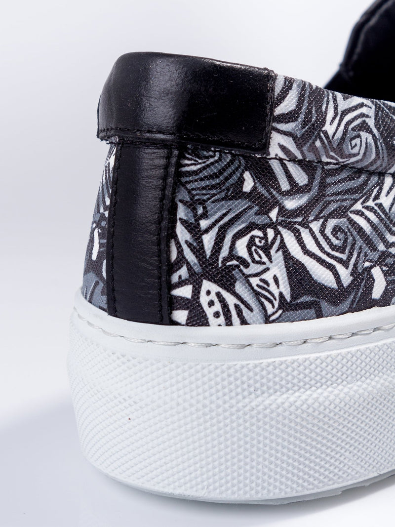 Tiger Print Slip On Sneakers