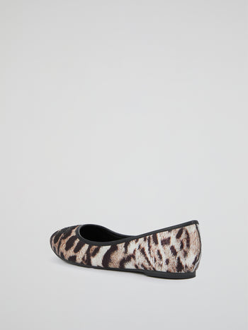 Animal Print Studded Loafers