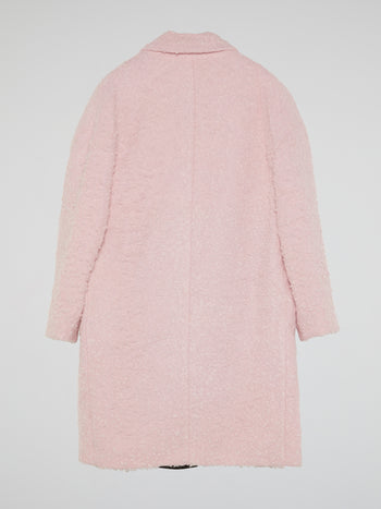 Pink Fur Trench Coat