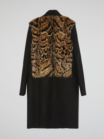 Black Leopard Fur Coat