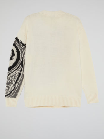 Paisley Print Knitted Sweater