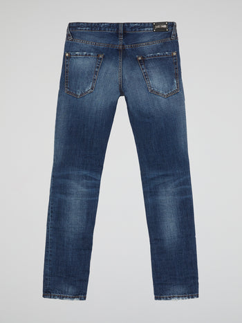 Navy Straight Fit Jeans