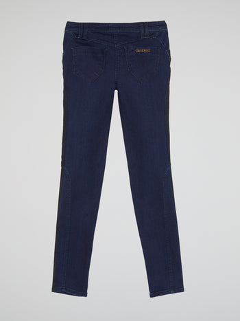 Two-Tone Slim Fit Jeans