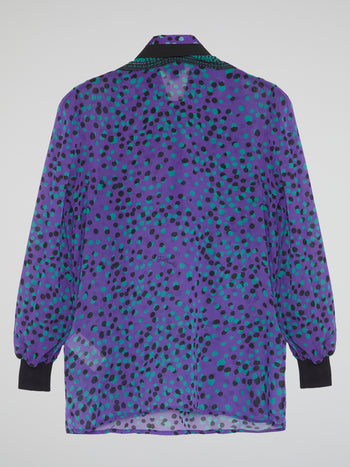 Purple Polka Dot Blouse