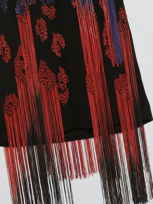 Fringe-Detail Sleeveless Top
