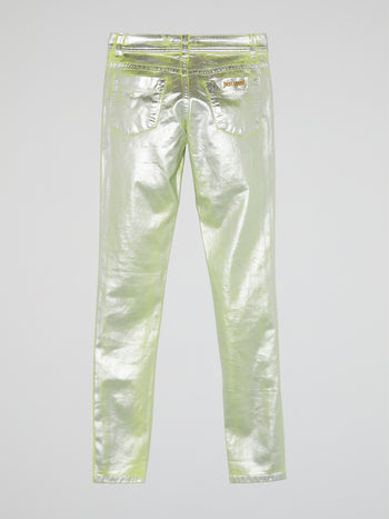 Metallic Slim Fit Jeans